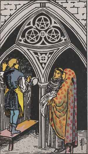 3 of Pentacles, or Coins, Tarot Card