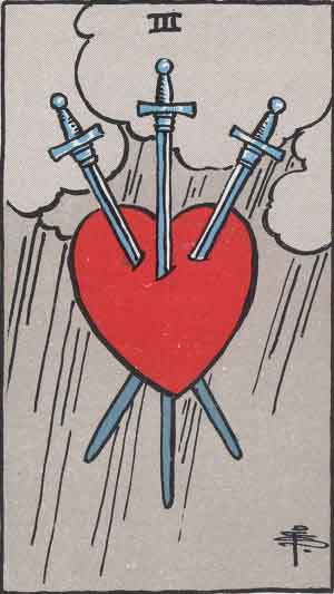 3 of Swords TarotCard