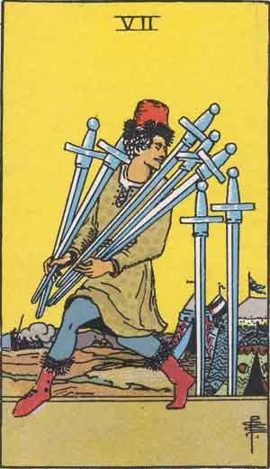 7 of Swords TarotCard
