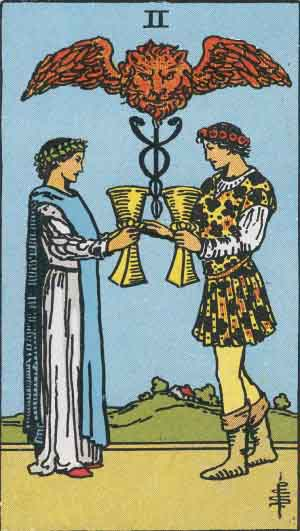 2 of Cups TarotCard