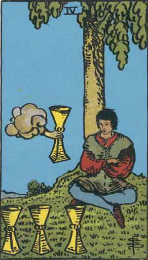 4 of Cups Tarot Card