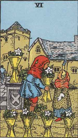 The 6 of Cups Tarot Card