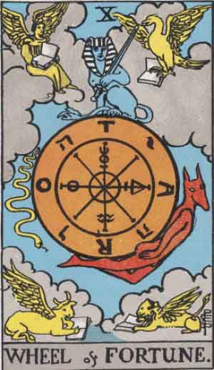 Wheel of Fortune, Tarot