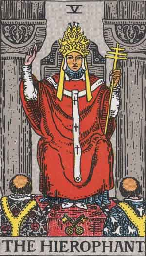 The Pope TarotCard