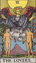 The Lovers Tarot card meaning and interpretation