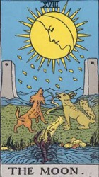 The Moon Tarot card meaning and interpretation