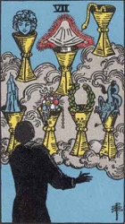 Seven of Cups Tarot Card Meaning & Interpretations - Phuture Me