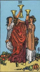 Three of Cups Tarot card meaning and interpretation
