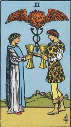 The 2 of Cups Card