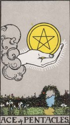 Ace of Pentacles Tarot card meaning and interpretation