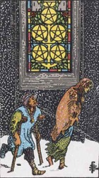 Five of Pentacles Tarot card meaning and interpretation