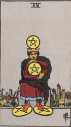 4 of Pentacles Tarot card meaning and interpretation