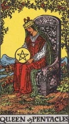 Queen of Pentacles, or Queen of Coins, Tarot card meaning and interpretation