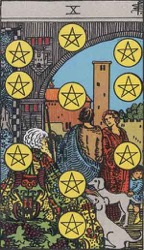 The Ten of Pentacles Card