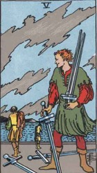 Five of Swords Tarot card meaning and interpretation