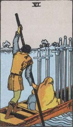 Six of Swords Tarot card meaning and interpretation