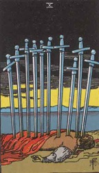 The Ten of Swords Card