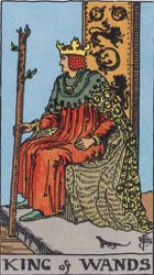 King of Wands Tarot card meaning and interpretation