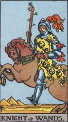 Knight of Wands Tarot card meaning and interpretation