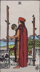 Two of Wands Card Meaning