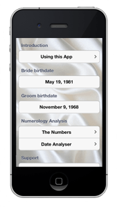 Wedding Date Numerology iPhone App Home Screen