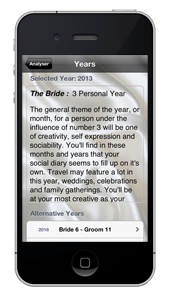 Wedding Date Numerology iPhone App Years guide